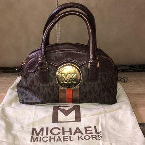 Michael Kors Brown jet set satchel bag monogram